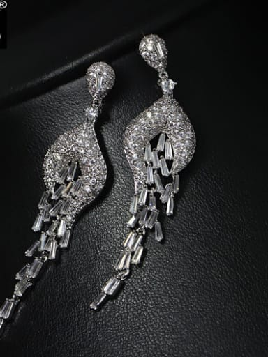 Luxury Wedding Party Drop Cluster earring