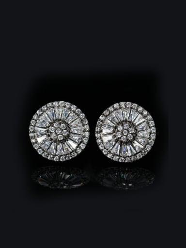 Lovely Round Stud Cluster earring