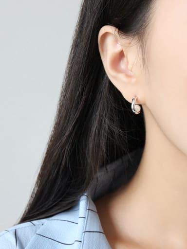 925 Sterling Silver Imitation Pearl Trendy Stud Earrings