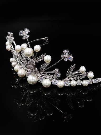 Noble Luxury Artificial Pearls Zircons Shining Hair Accessories