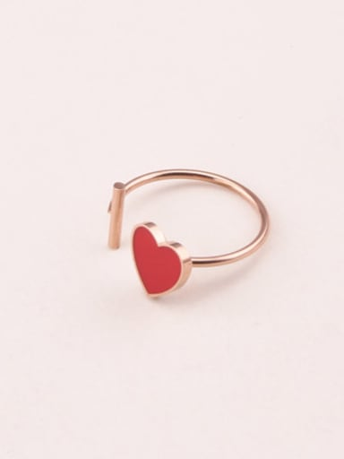Red Glue Heart Opening Ring
