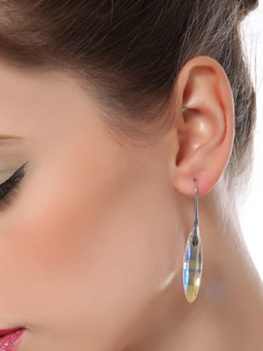 S925 Silver Colorful hook earring