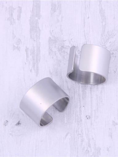 Titanium With Platinum Plated Simplistic Geometric Free Size Rings