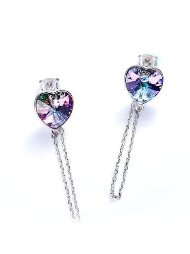 Fashion Heart shaped Swarovski Crystal Stud Earrings