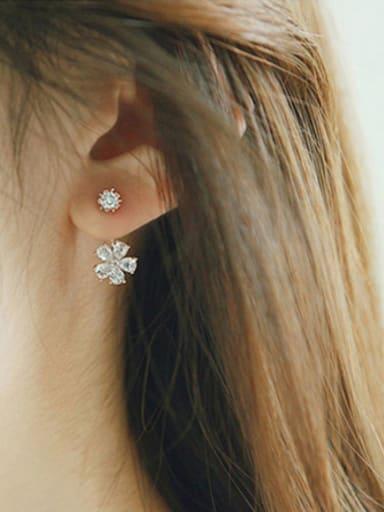 S925 Silver Sweet Cherry Diamond stud Earring