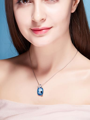 Swarovski Crystals Oval Shaped Necklace