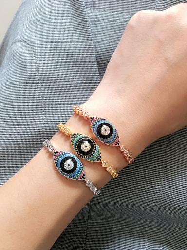 2018 Eye Shaped Copper Bracelet