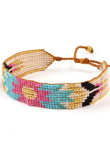 Retro Style Woven Colorful Accessories Bracelet