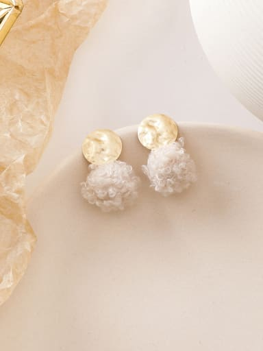 Alloy With Imitation Gold Plated Cute Round Drop Earrings