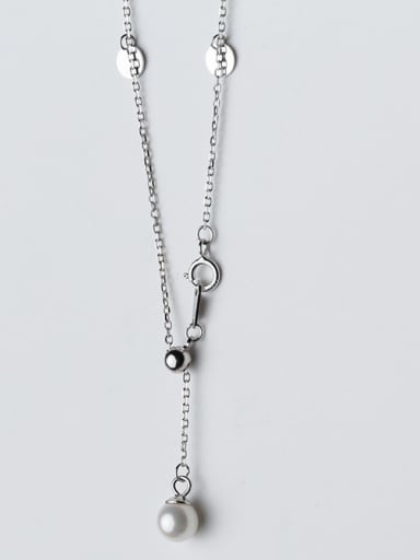 925 Sterling Silver With 18k White Gold Plated Trendy Round Necklaces