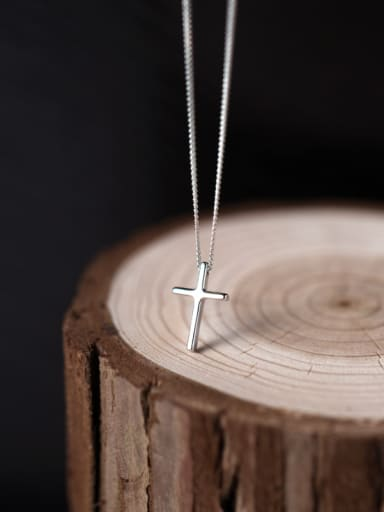 S925 Silver Cross elegant Necklace