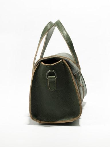 Vintage cylinder vegetable tanned boston bag handbag