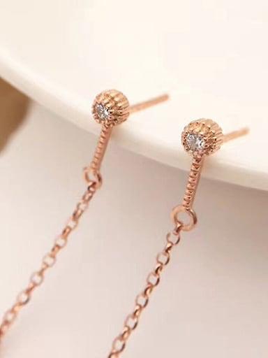 2018 Freshwater Pearl Drop threader earring
