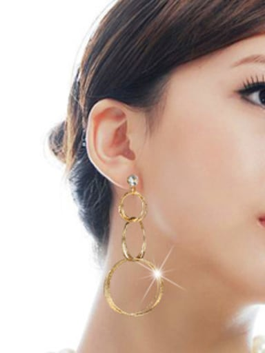 Copper With Gold Plated Fashion Geometric Earrings