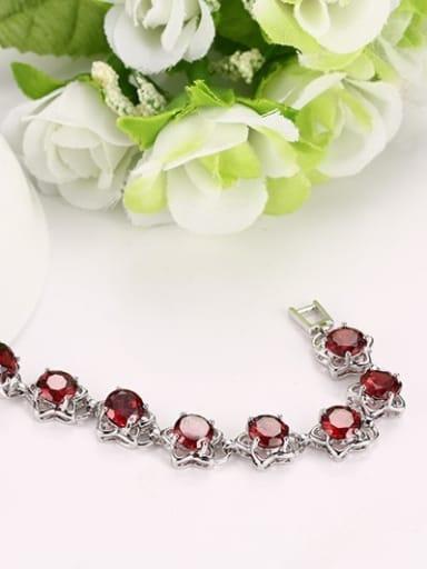 Elegant Red Star Shaped AAA Zircon Copper Bracelet