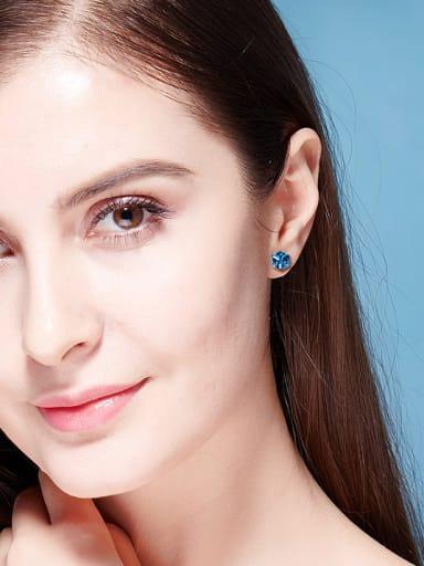 2018 Blue Swarovski Crystal stud Earring