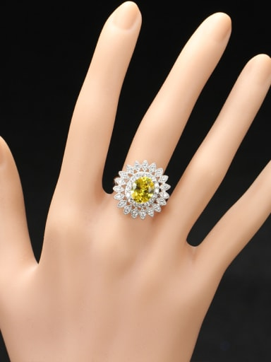 Party Accessories Flower Shaped Zircons Ring