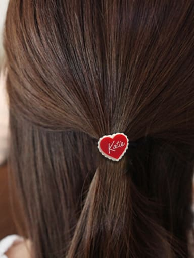 Rubber Band  With Acrylic  Cute Heart-Shaped Hair Ropes