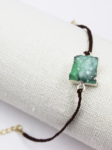 Adjustable Length Geometric Shaped Natural Stone Bracelet