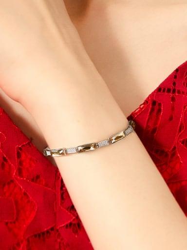 Simple Swarovski Crystals Rhinestones Silver Bracelet