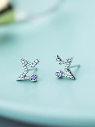 Fashionable Star Shaped Shining Rhinestones Stud Earrings