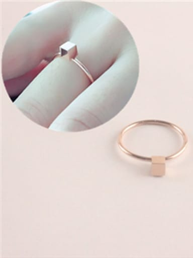 Fashion Personality Square Geometric Ring