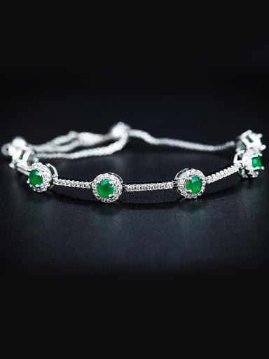 Green Zircon Bracelet