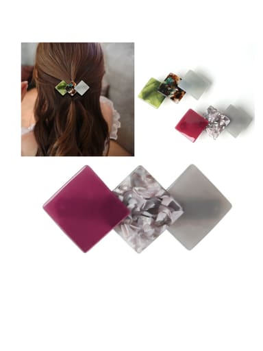 Alloy With Cellulose Acetate Fashion Geometric Barrettes & Clips