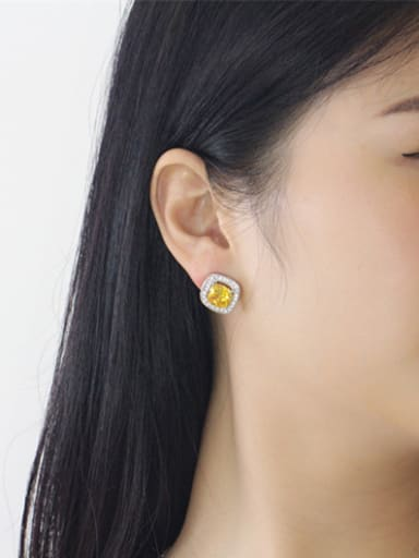 2018 Simple Square AAA Zircons stud Earring