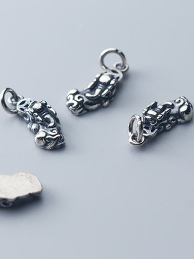 925 Sterling Silver With Antique Silver Plated Vintage Animal Charms