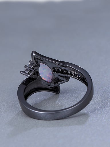 2018 Black Opal Stone Statement Ring