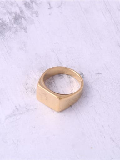 Titanium With Gold Plated Simplistic Smooth Geometric Band Rings