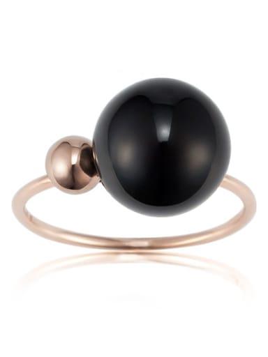 Balls Temperament Simple Titanium Ring
