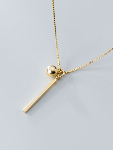 925 Sterling Silver With  Smooth Simplistic Geometric Necklaces