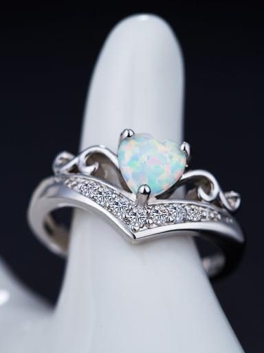 Heart Opal Stone Ring