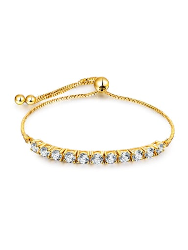 Square Shaped Zircon Bracelet