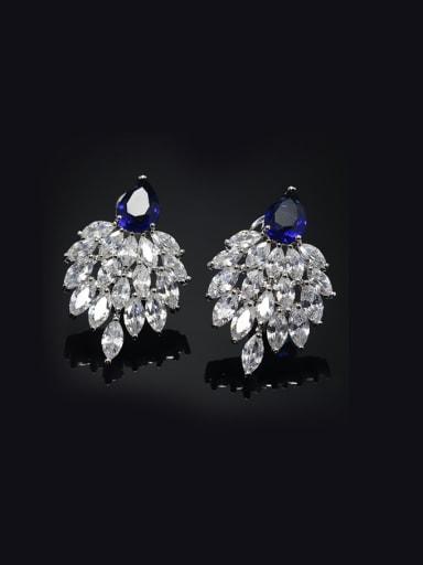 Shining Wedding Copper Cluster earring