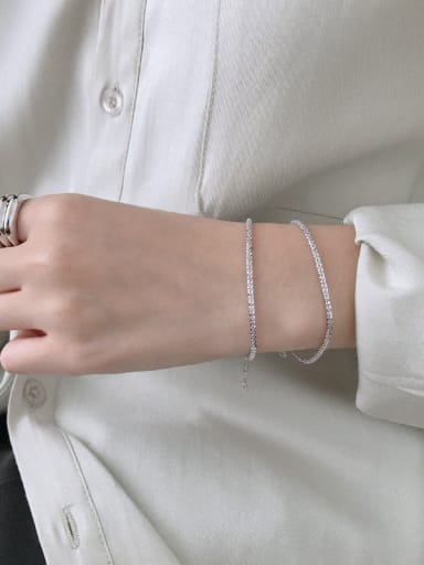 925 Sterling Silver With Gold Plated Simplistic Flower Bracelets