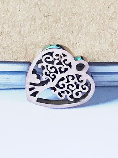 Stainless Steel With Silver Plated Personality Heart Charms