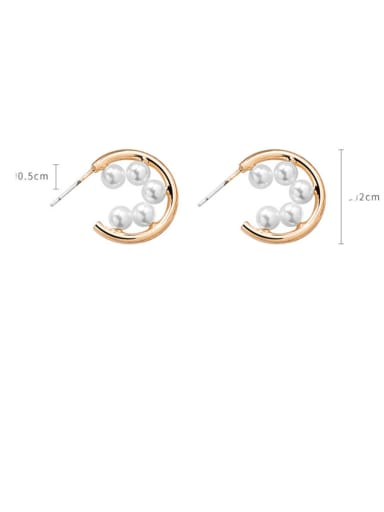 Alloy With Rose Gold Plated Simplistic Irregular Stud Earrings