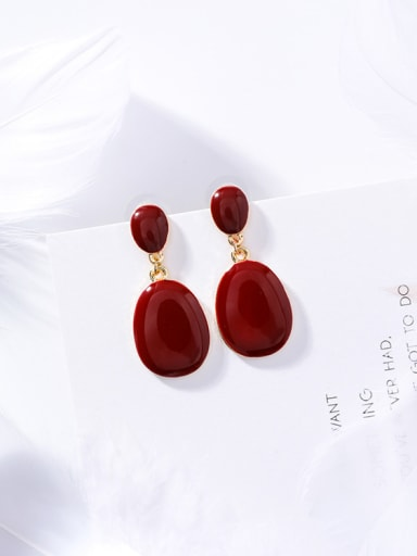 Alloy With Gold Plated Trendy Geometric Drop Earrings