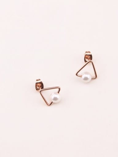Artificial Pearls Temperament Stud Earrings