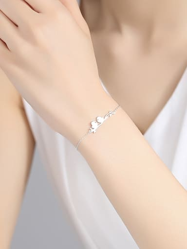 925 Sterling Silver With Gold Plated Simplistic Little Bird Bracelets