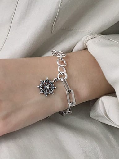 925 Sterling Silver With Antique Silver Plated  Chain Bracelets