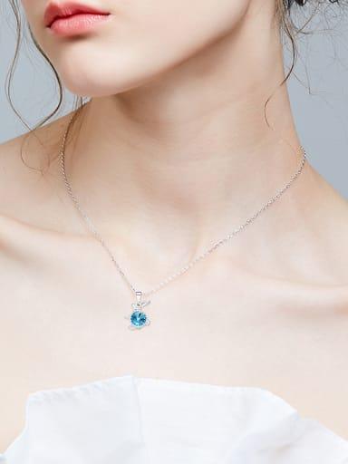Fashion Cute Rabbit Swarovski Crystal Pendant 925 Silver Necklace