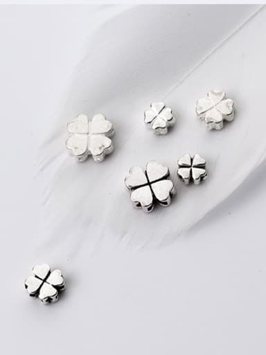 925 Sterling Silver With Silver Plated Classic Clover Bails