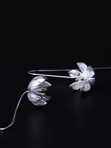 S925 Silver Fashion Women Hook hook earring