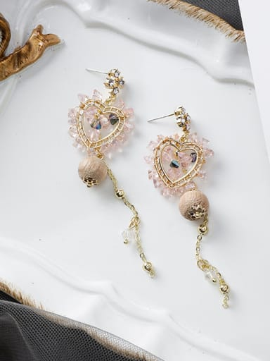 Alloy With Rose Gold Plated Trendy Chain Drop Earrings