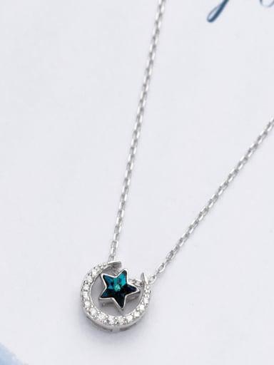 Temperament Star Shaped Zircon S925 Silver Necklace