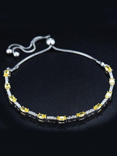 Platinum Zircon Bracelet